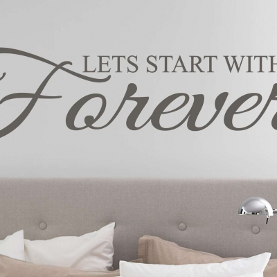 Forever wall art decal