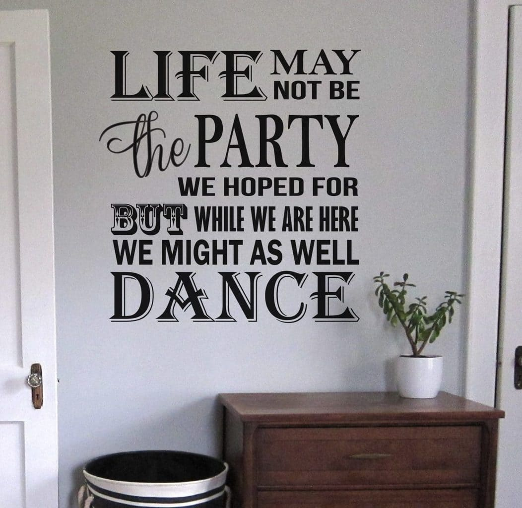 Life Dance wall decal