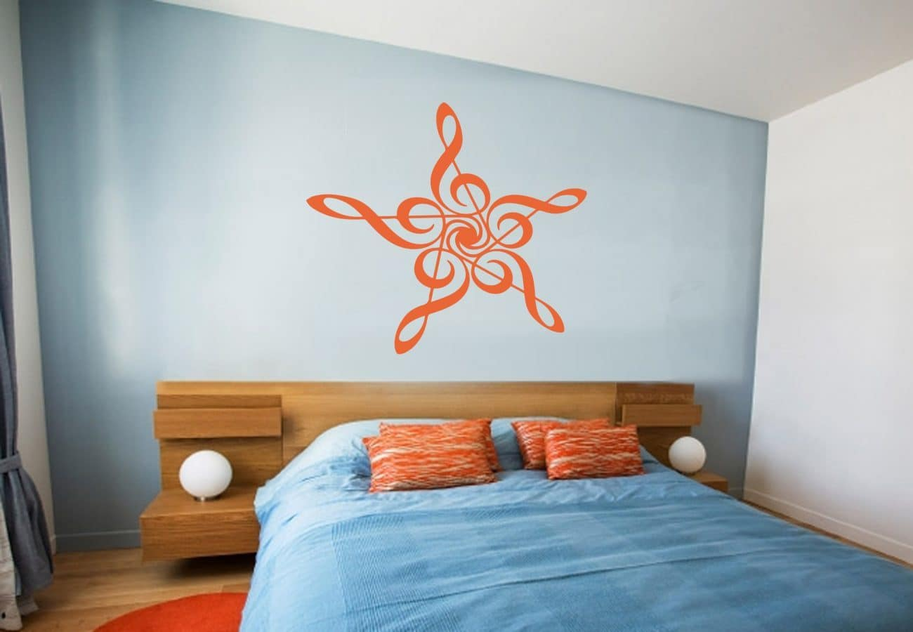 Music star wall art decal