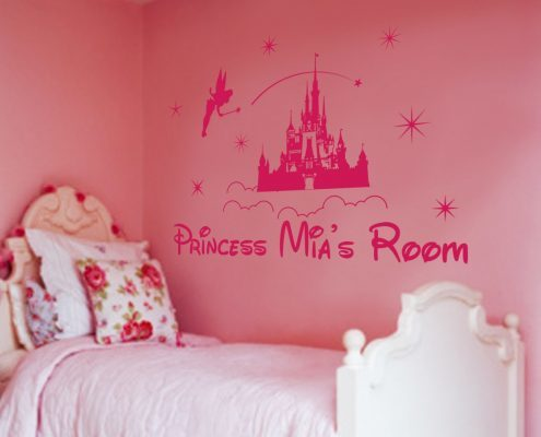 Princess castle personalised wall decal sticker