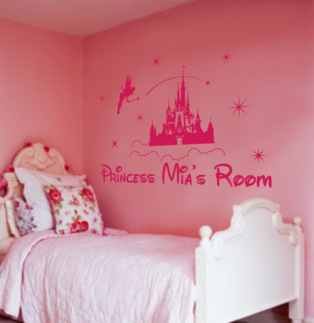 Personalized princess castle wall art for girls princess castle personalised wall decal sticker amipublicfo Gallery
