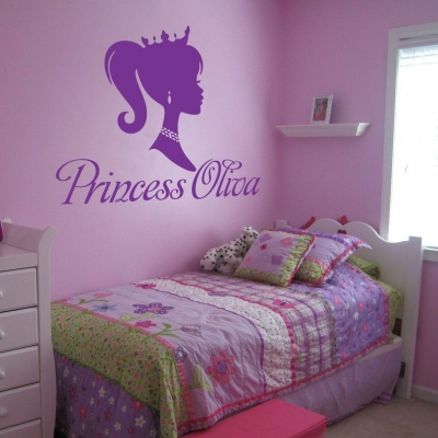 Princess personalised wall decal sticker