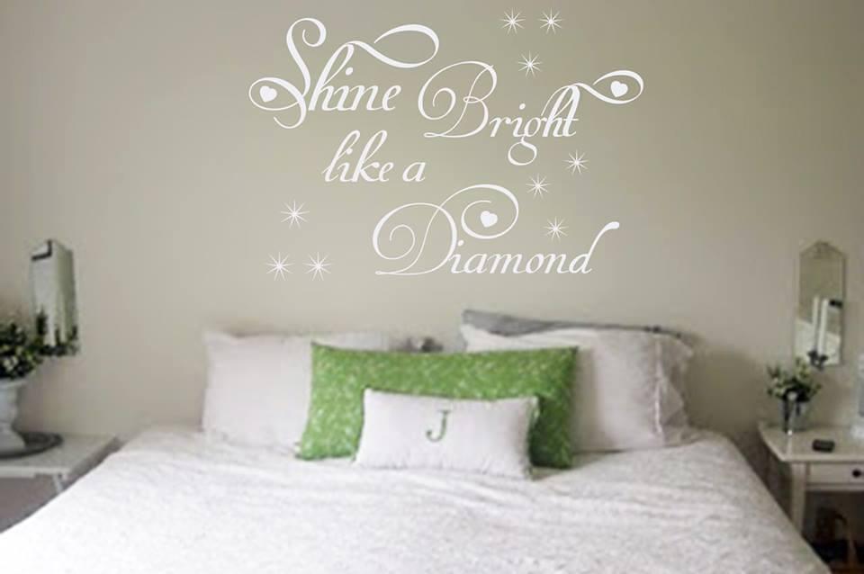 Shine bright wall art decal