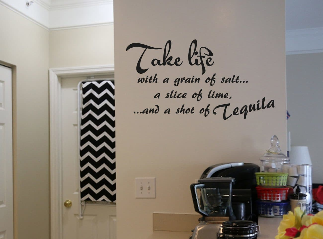 Take life wall art decal