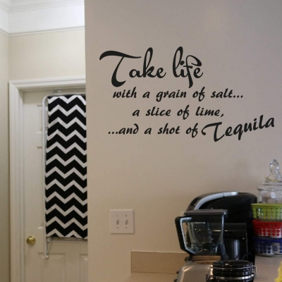 Take life wall art decal