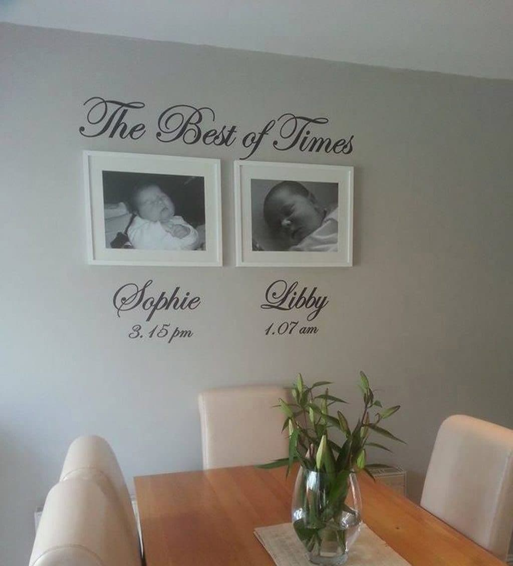 The best of times wall art decal