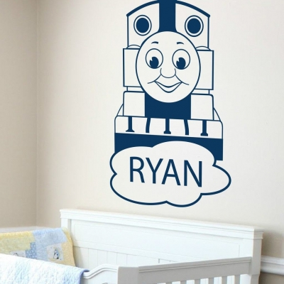 Thomas the tank engine Personalised wall decal