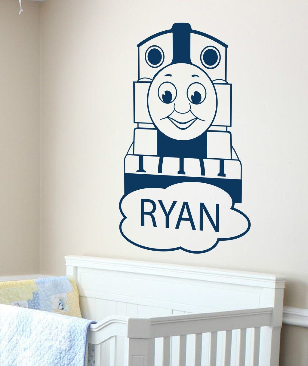 personalized tank featuring wall stickers from ey thomas amp friends wall stikarounds 32 stickers new tank