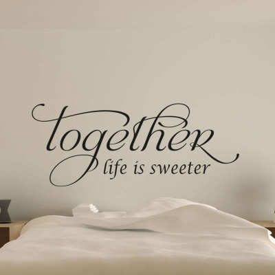 Life is sweeter wall art decal