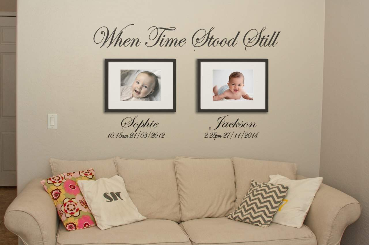 Time Stood Still Wall Art Decal Personalised Wall Art