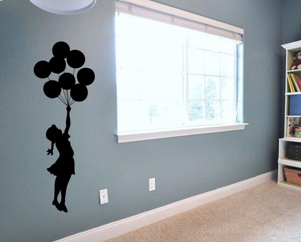 Banksy balloons wall decal