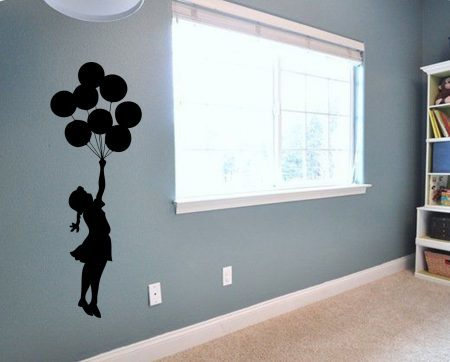 Banksy balloons wall decal