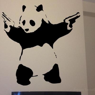 Banksy panda wall art decal
