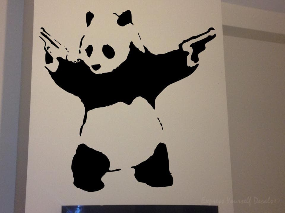 Banksy panda wall art decal