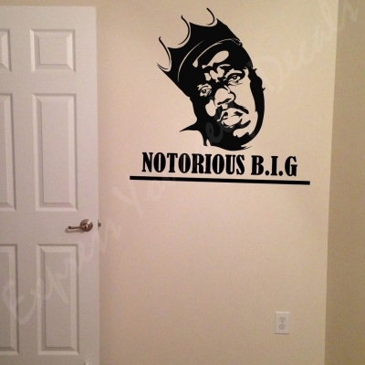 Notorious B.I.G. wall art decal
