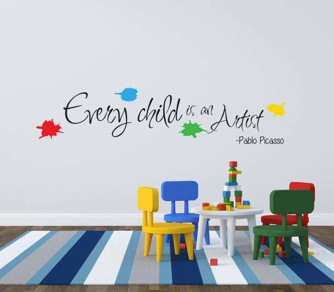 Every child is an artist picasso wall decal