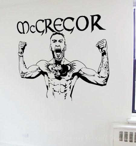 Conor McGegor wall art decal