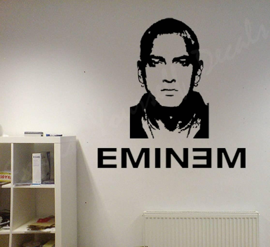 Eminem wall art decal wall decal wall art decal sticker for Eminem wall mural