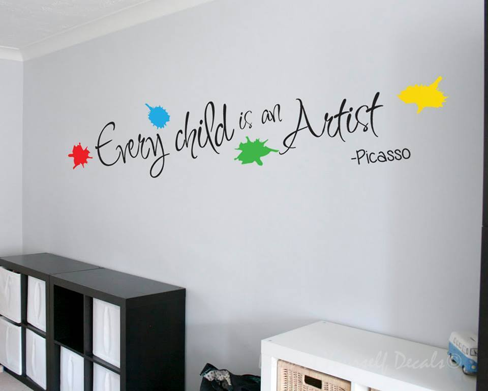 Every child is an artist wall art decal