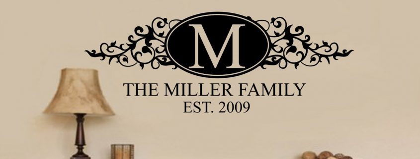 Family name persoanlised - wall art decal