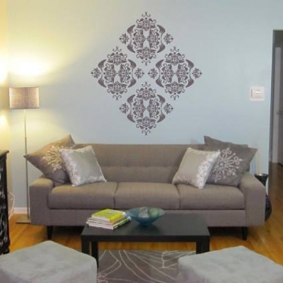 Floral print wall art decal