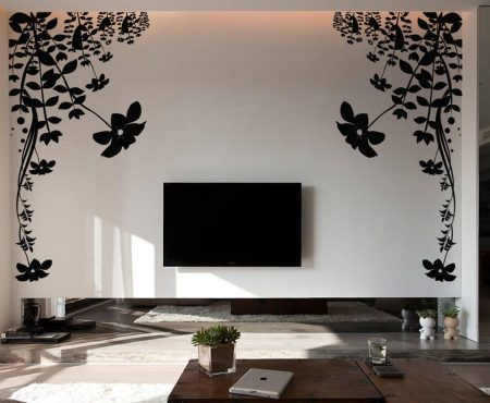 Flower vine wall decal