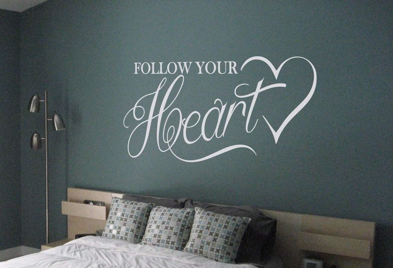 Follow your heart wall art decal