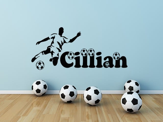 Football name personalised wall art decal