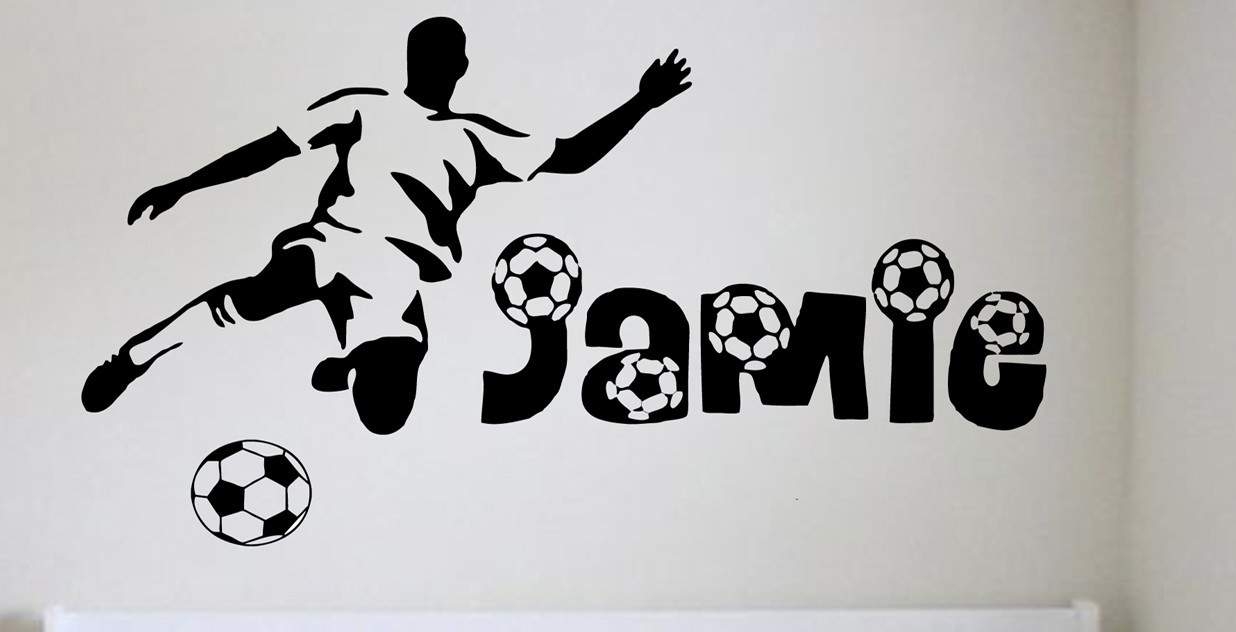 Football name (personalised) - Wall art decal Sports Decals