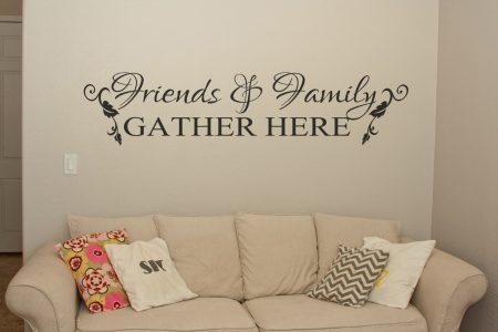 Friends and Family wall art decal