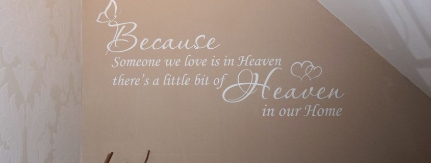 Heaven - wall art decal Spiritual and religious wall art decals
