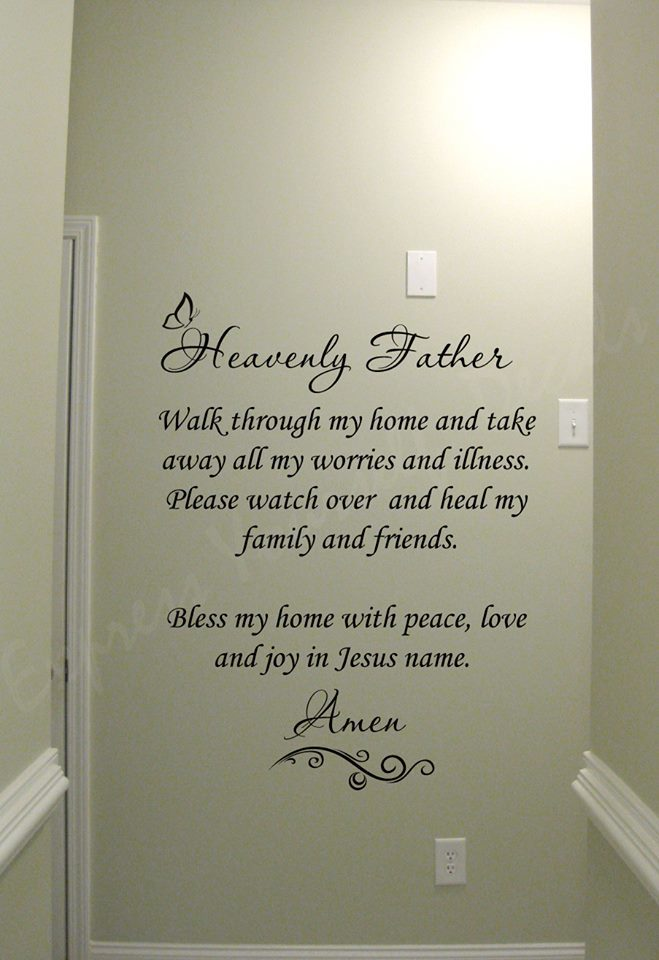 Heavenly father wall decal