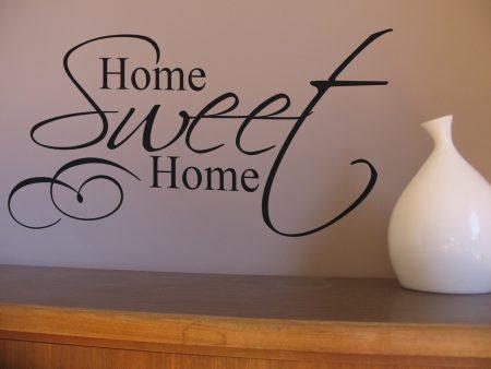 Home Sweet Home wall art decal