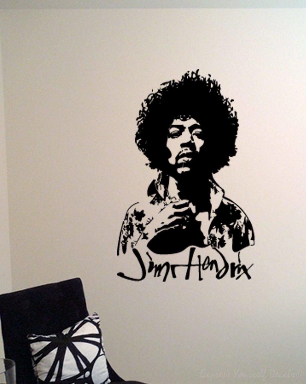 Jimi Hendrix wall art decal