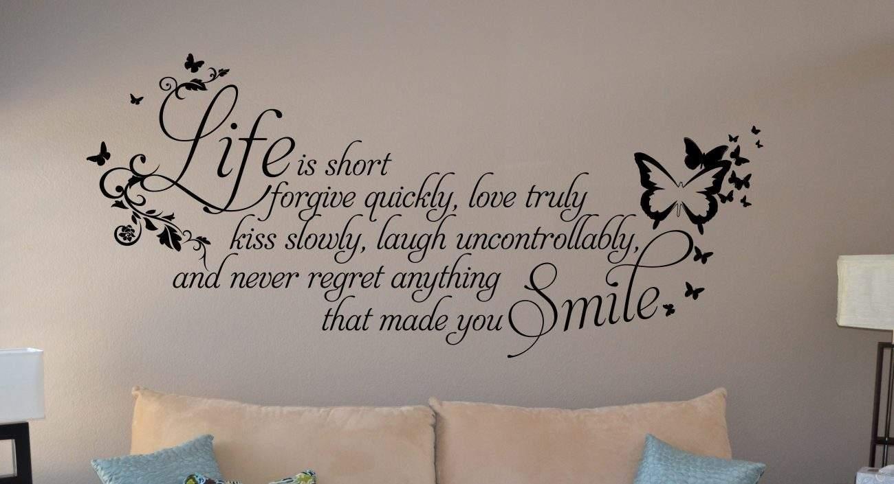 Life is short wall art decal sticker