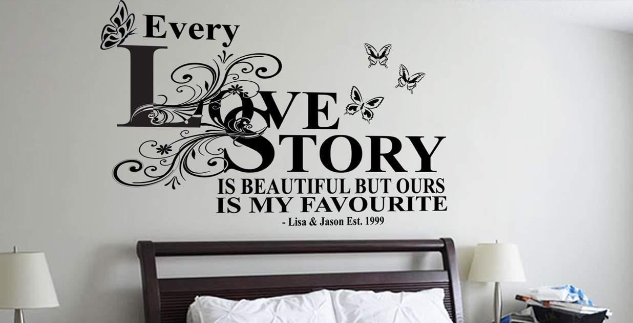 love story - wall art decal Romantic wall art