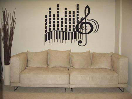 Musical keyboard beats wall art decal