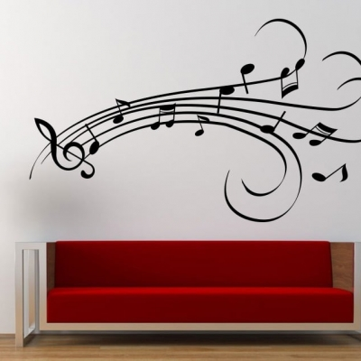 Musical notes design wall art