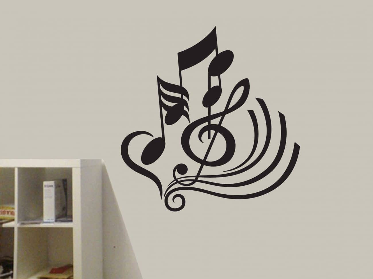 Musical notes wall art decal