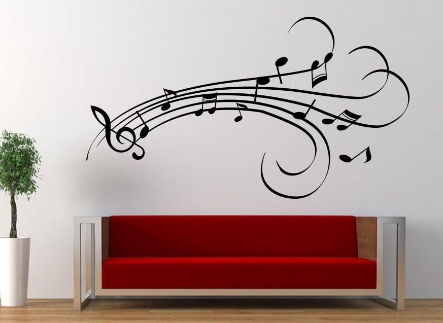 Musical notes design wall art