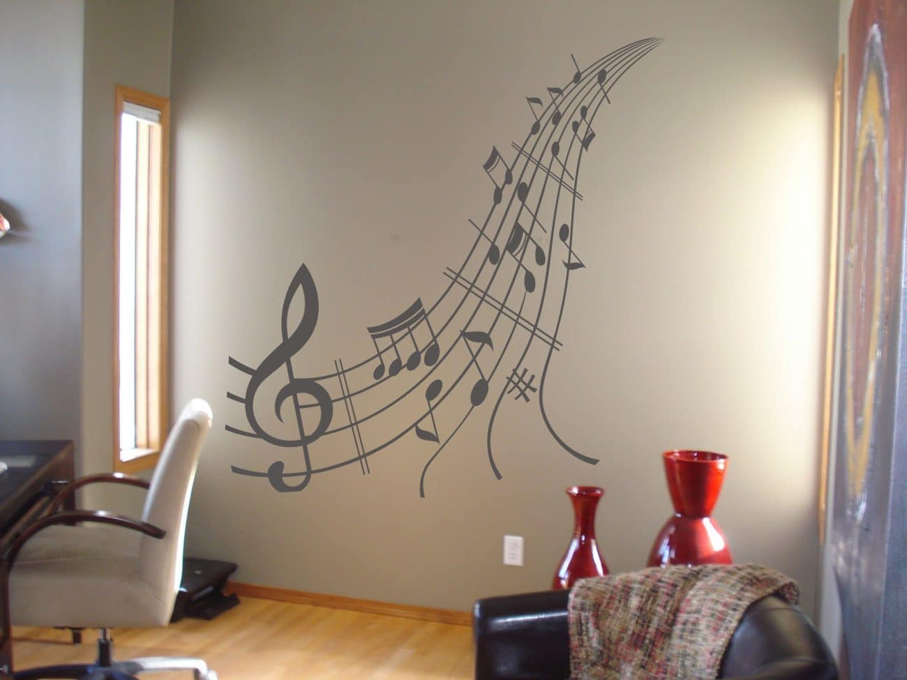 Music notes wall art decal
