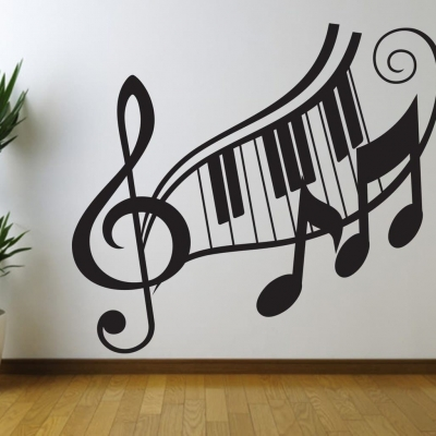 Superieur Music Note Treble Clef Wall Art Decal