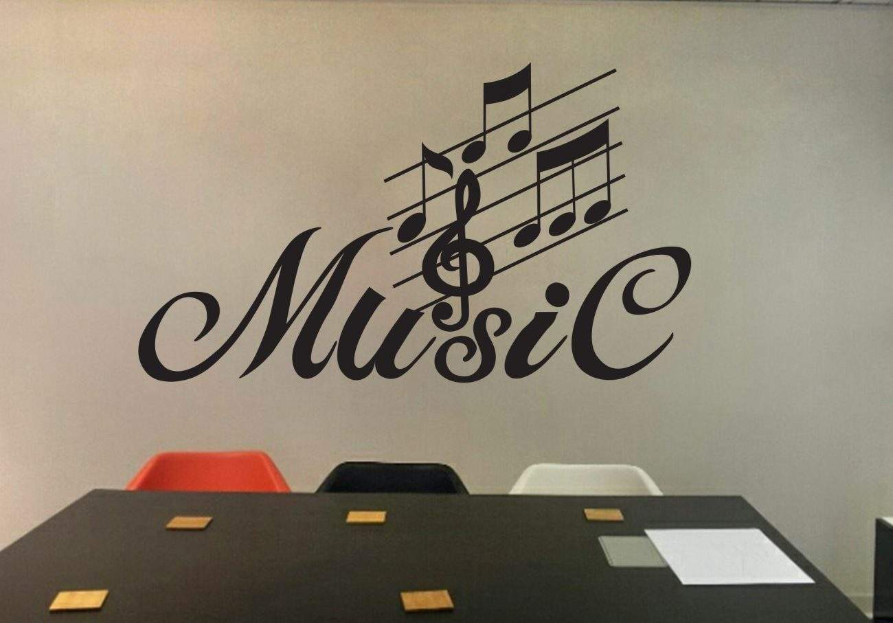 Music wall art decal
