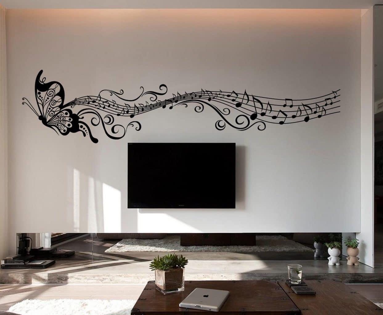 Musical Butterfly wall art decal