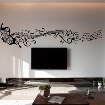 Musical Butterfly wall art decal