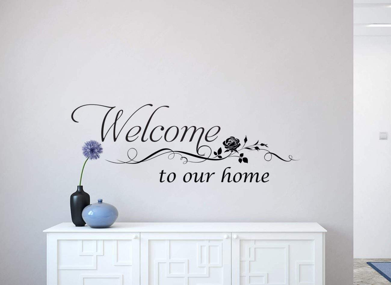 Welcome wall art decal