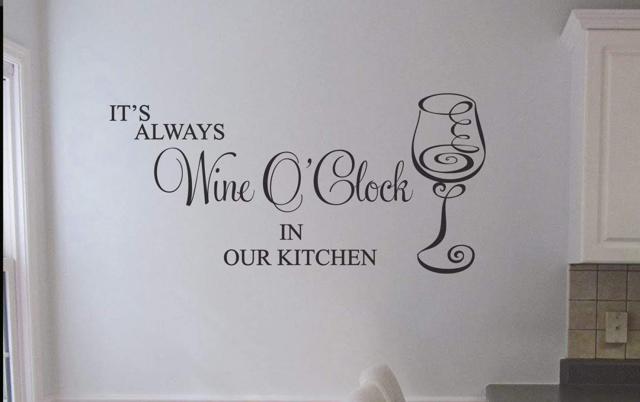 wine o'clock - wall art decal Kitchen wall decals