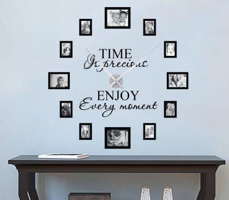 Time is precious picture frame clock large