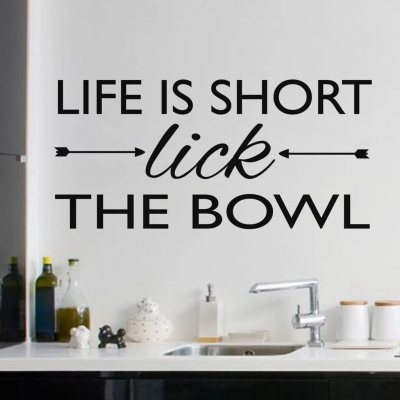 Lick the bowl wall art decal