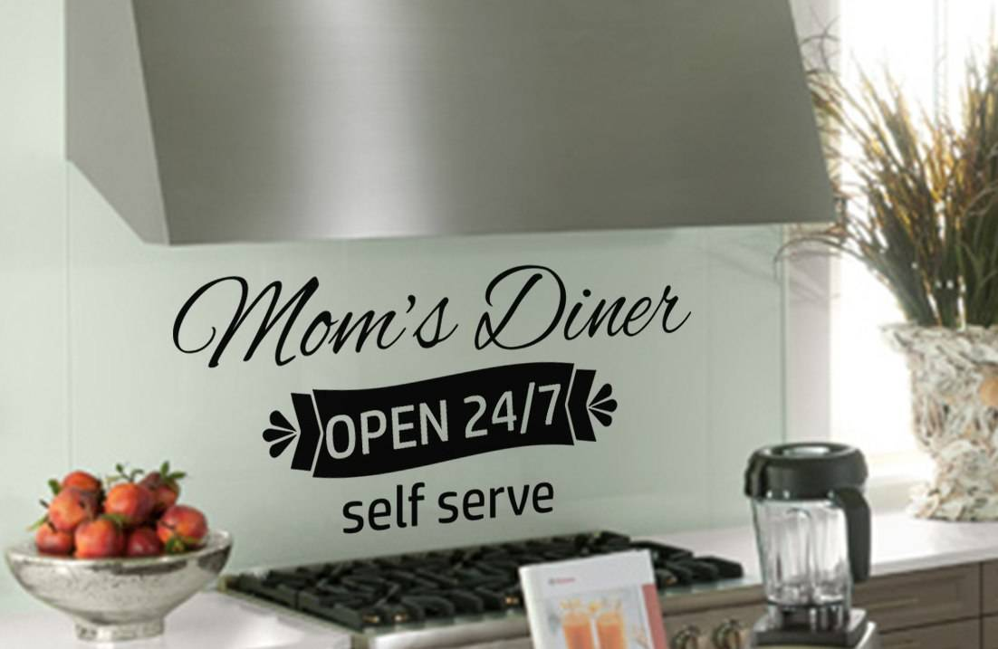 Mom's Diner wall art decal sticker